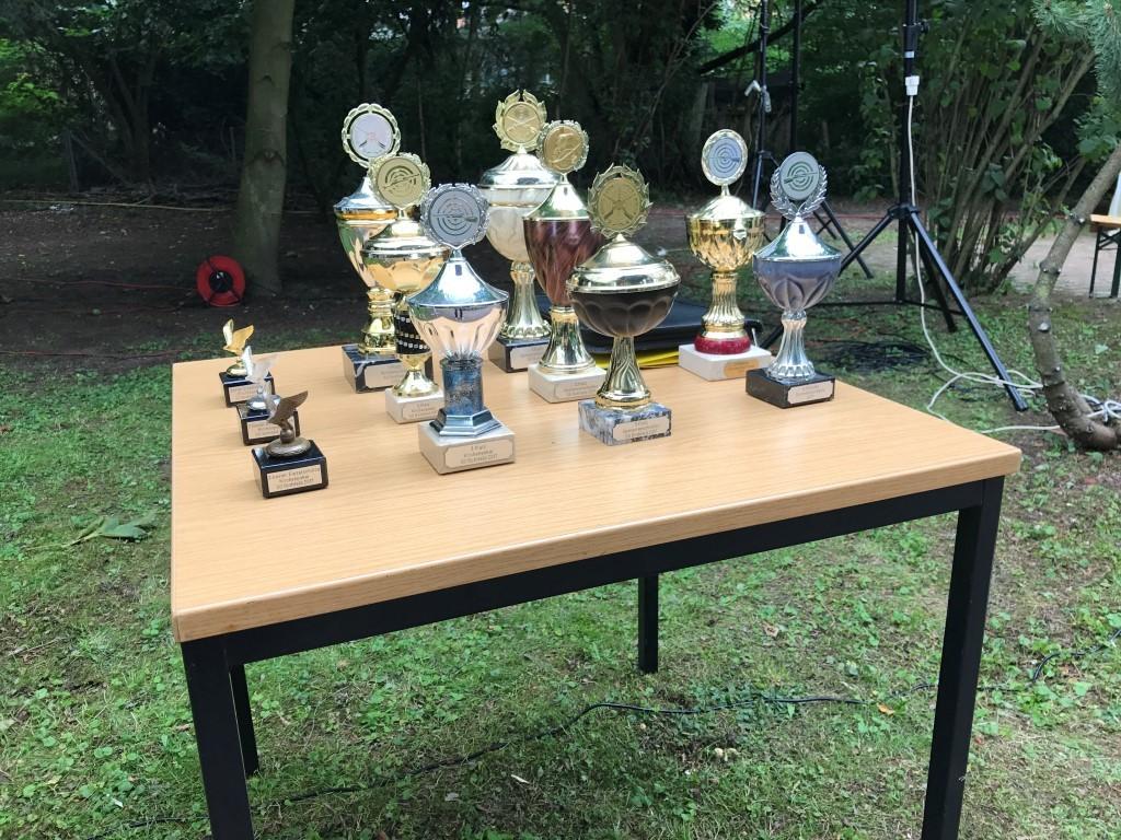 Die Pokale des Kirchenpokals 2017
