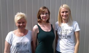 Unsere KK-Liegend-Schützinnen (von links nach rechts): Kirsten, Caroline und Julia