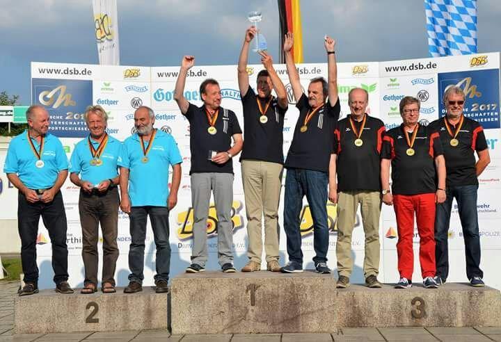 Siegerehrung bei der Deutschen Meisterschaft 2017 des Deutschen Schützenbundes