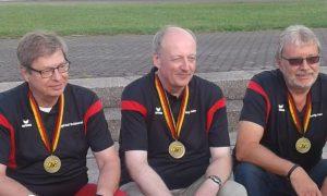 Die Bronzemedaillengewinner KK-Liegend bei der Deutschen Meisterschaft 2017